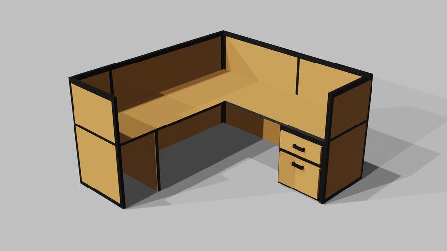 Офисная мебель royalty-free 3d model - Preview no. 7