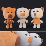 毛绒玩具Wiki小米熊 3d model