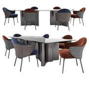 安吉椅子和娄表 3d model