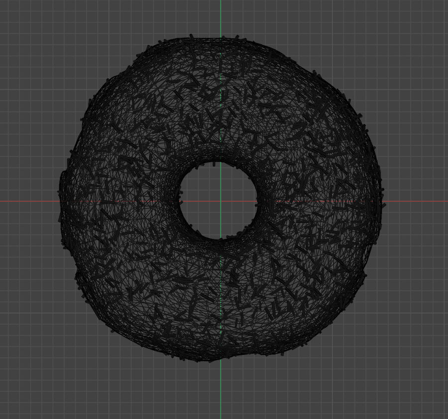 Donut au chocolat royalty-free 3d model - Preview no. 6