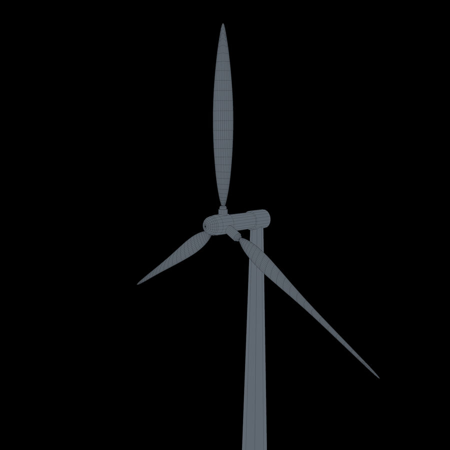 Ветровая турбина royalty-free 3d model - Preview no. 7
