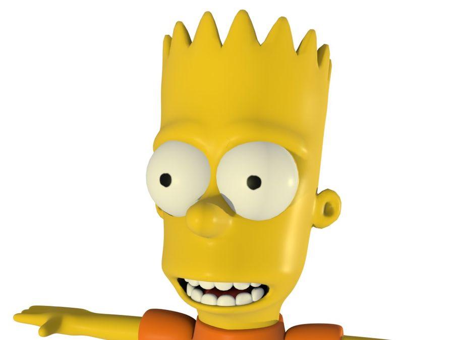 バートシンプソン3dモデルの不正な漫画のキャラクターローポリ3dモデル 3dモデル 6 Obj Dae Fbx Blend Free3d