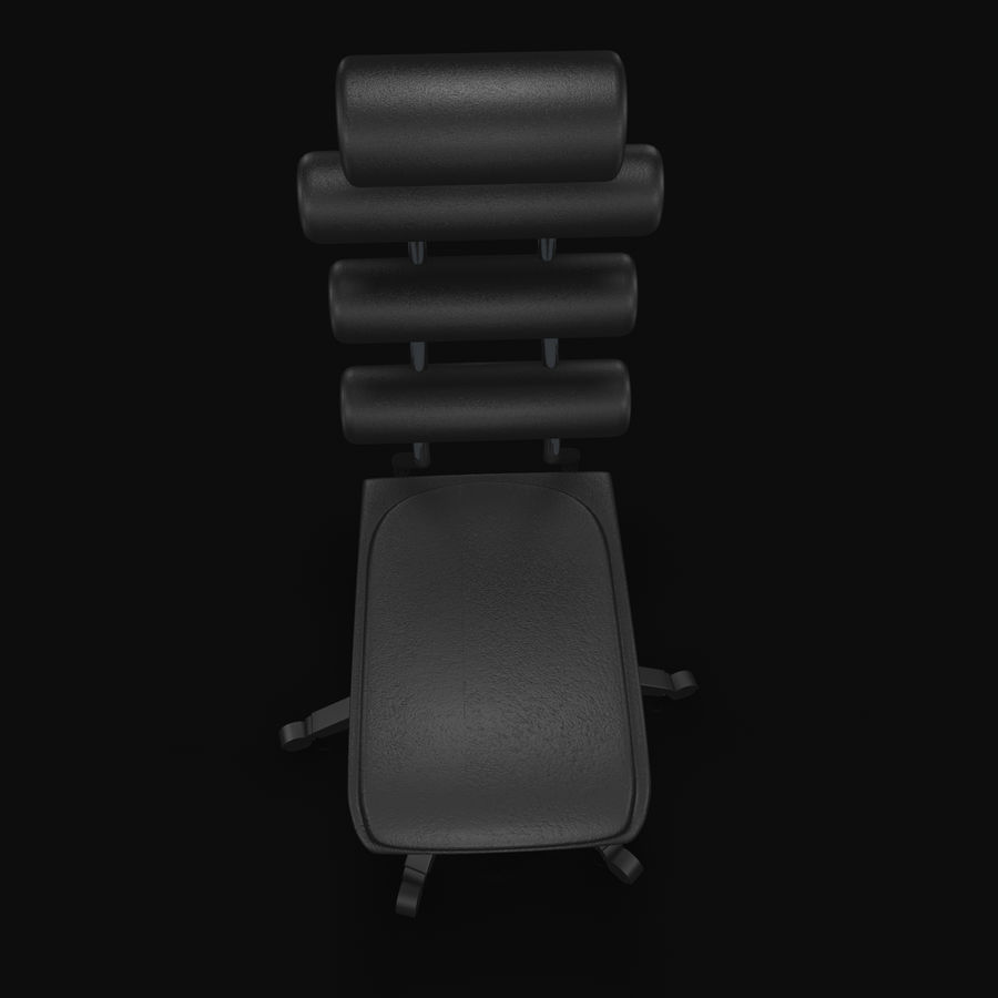Computer Chair royalty-free 3d model - Preview no. 8