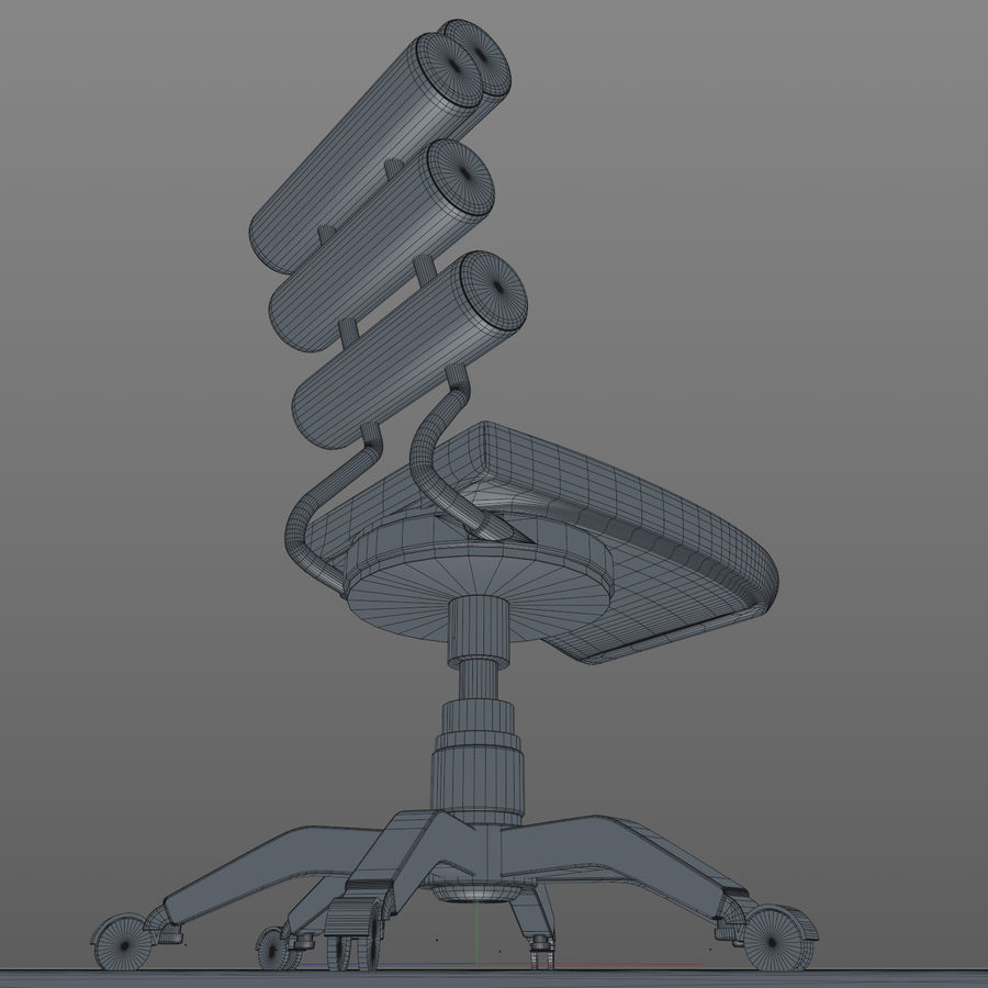 Computer Chair royalty-free 3d model - Preview no. 17