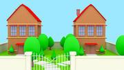 modelowanie stoczni kreskówki domu 3d model