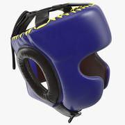 Boxing Headgear with Cheek Protection Blue 3d model