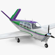 Single Engined Aircraft V Tail 3d model