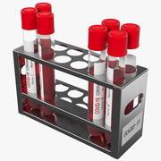 Portaprovette con test misti per il coronavirus 3d model