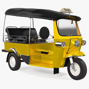 Трехколесный авто-рикша 3d model