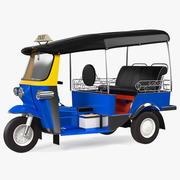 전통적인 툭툭 택시 3d model