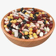 Mixed Legume Beans on a Plate 3d model