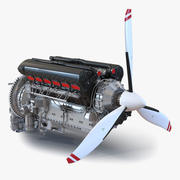 Piston Aero Engine 2 3d model