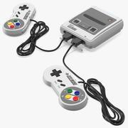 Consola del sistema de entretenimiento Super Nintendo modelo 3d