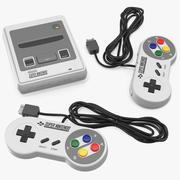 Super Nintendo Entertainment System-videogameconsole 3d model