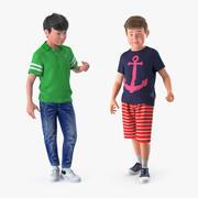 십대 소년 컬렉션 3d model