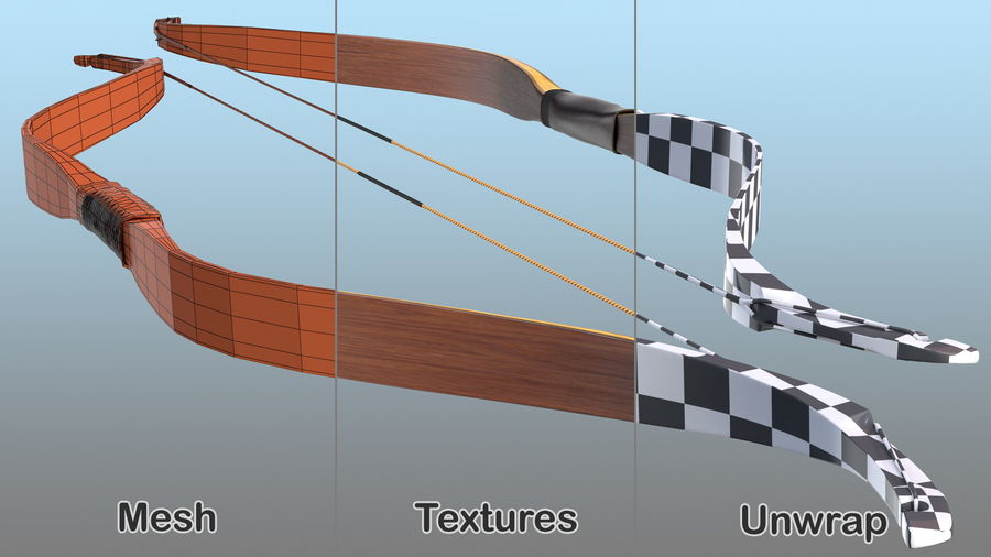 Medieval Bow royalty-free 3d model - Preview no. 15