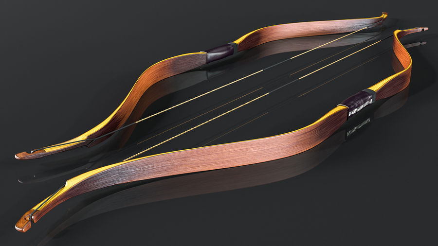 Medieval Bow royalty-free 3d model - Preview no. 6
