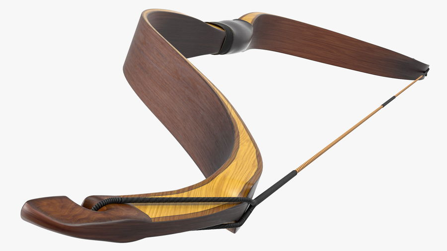 Medieval Bow royalty-free 3d model - Preview no. 11