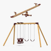 Swings Collection 2 3d model