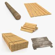 Colección de madera 3 modelo 3d