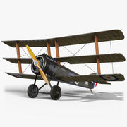 Sopwith Triplane GameReady 3d model
