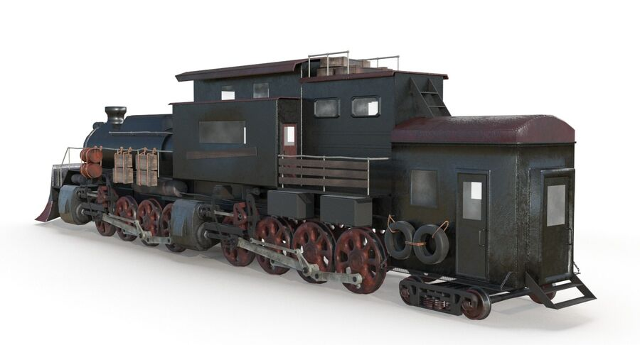 Locomotive model royalty-free 3d model - Preview no. 5