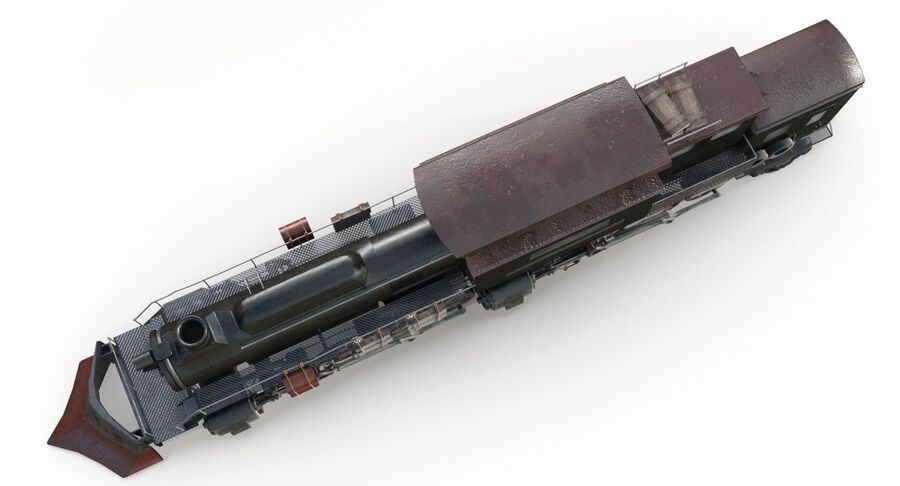 Locomotive model royalty-free 3d model - Preview no. 10