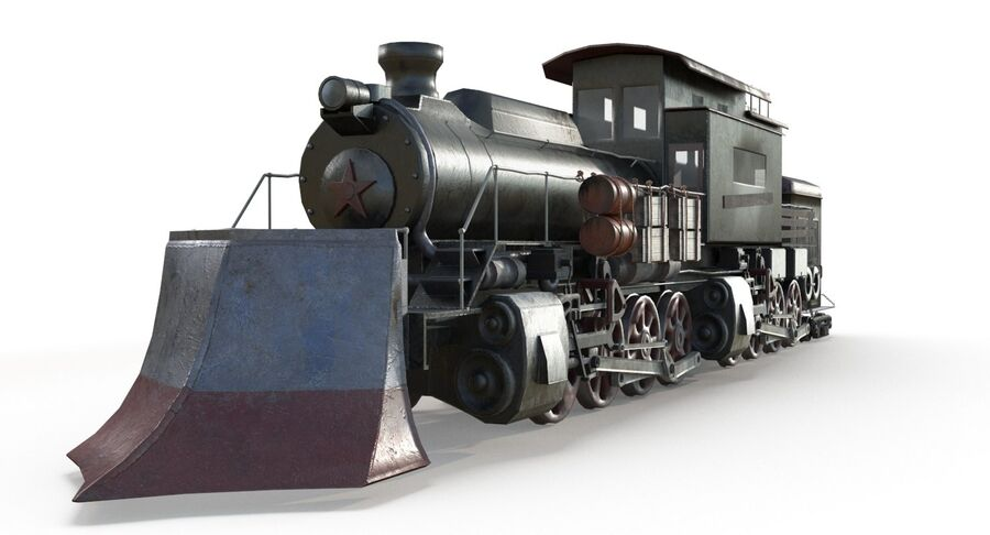 Locomotive model royalty-free 3d model - Preview no. 4