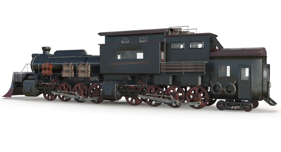 Locomotive model royalty-free 3d model - Preview no. 12