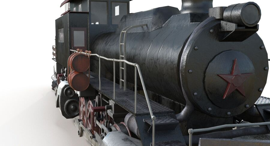 Locomotive model royalty-free 3d model - Preview no. 11