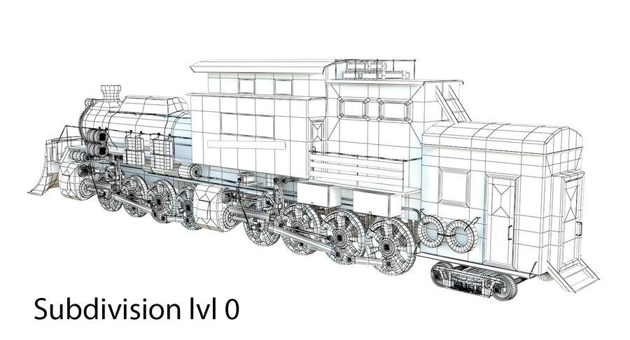 Locomotive model royalty-free 3d model - Preview no. 14