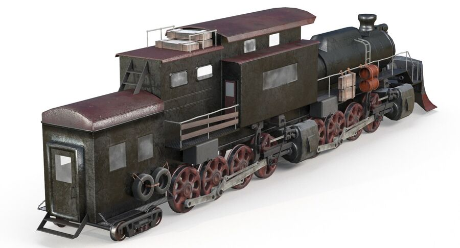 Locomotive model royalty-free 3d model - Preview no. 3