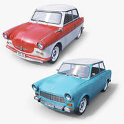 Trabant Car Collection 3d model