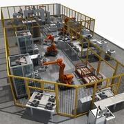 Equipamento de produção automática 3d model
