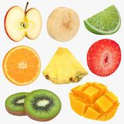 Fruit Slice Collection 3d model