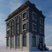 residencia clásica modelo 3d