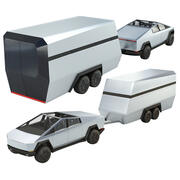 Tesla Cybertruck avec Camper 3d model