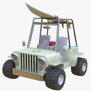 Cartoon Beach Jeep Car 3d model