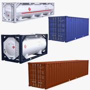 Colección de contenedores ISO modelo 3d