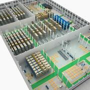 Standardized warehouse 3d model