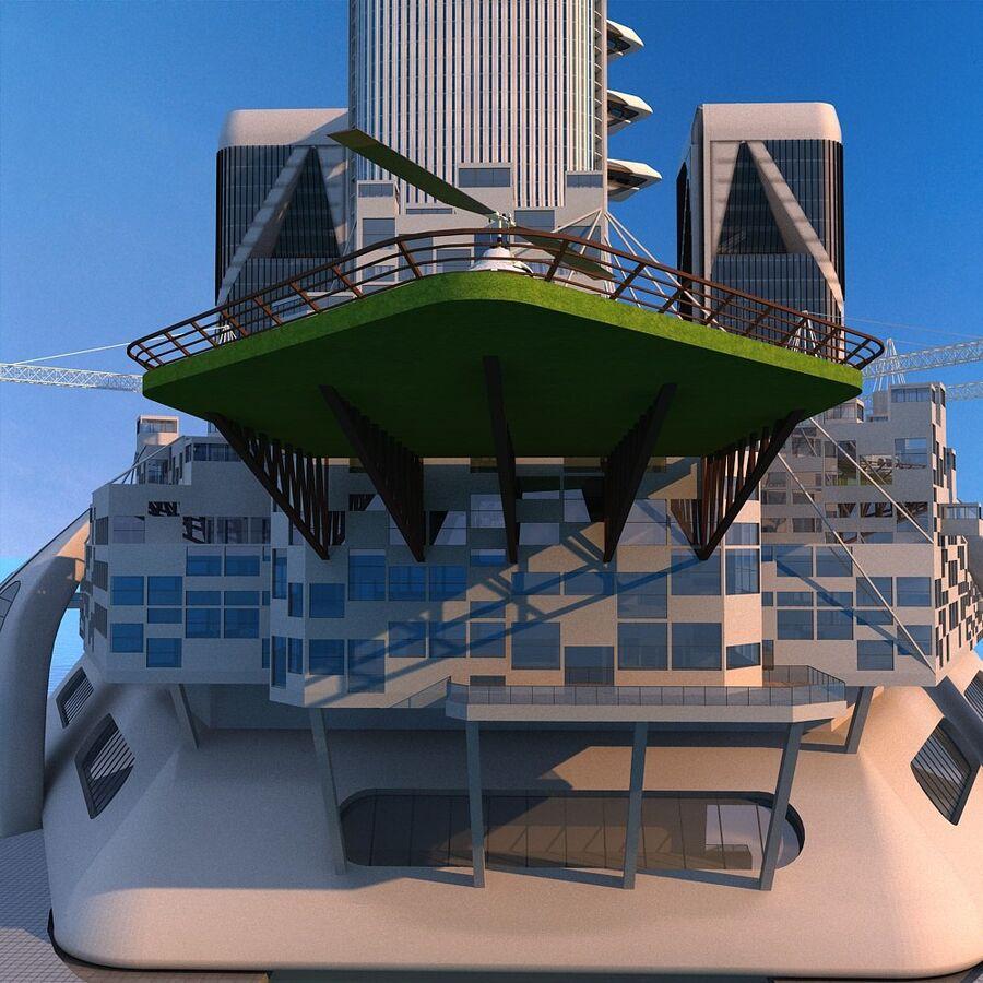 futura ciudad marítima royalty-free modelo 3d - Preview no. 8