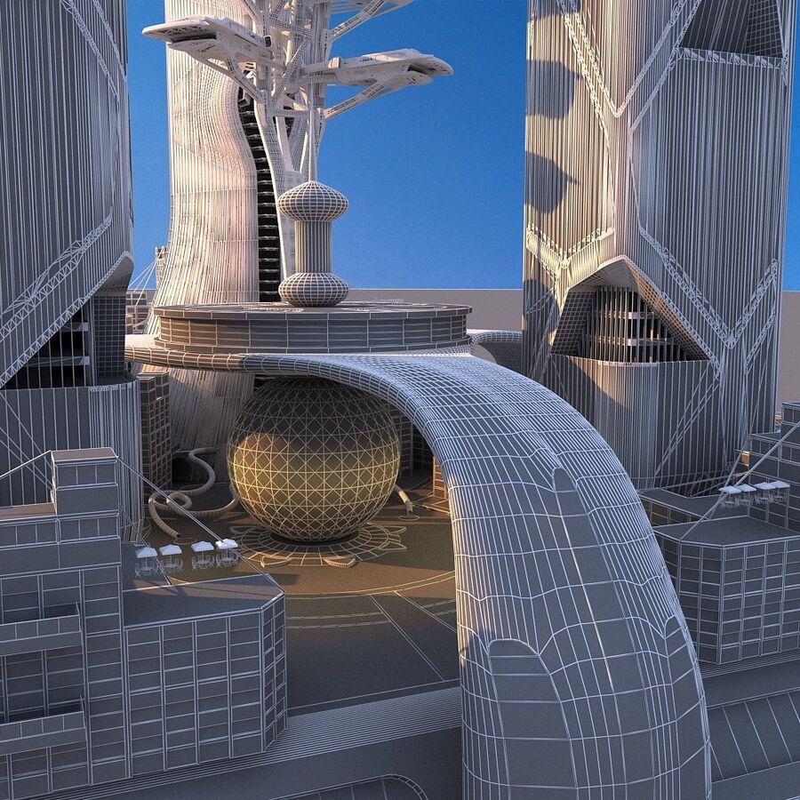futura ciudad marítima royalty-free modelo 3d - Preview no. 16