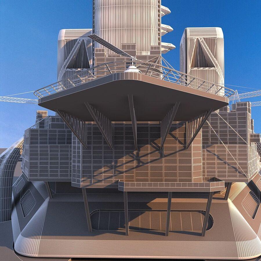 futura ciudad marítima royalty-free modelo 3d - Preview no. 9