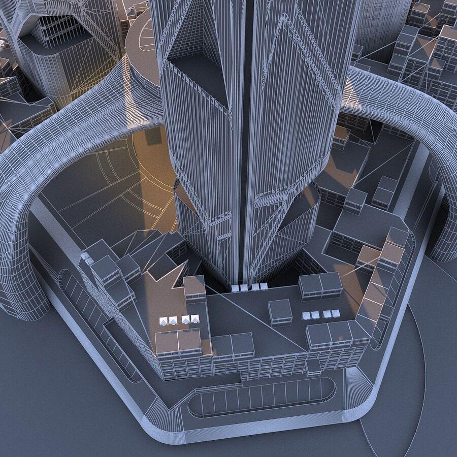 futura ciudad marítima royalty-free modelo 3d - Preview no. 18