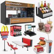 Colección de comida rápida modelo 3d