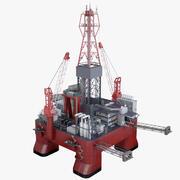 Plataforma petrolera costa afuera PBR modelo 3d