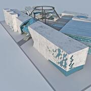 Hub voor moderne architectuur 3d model