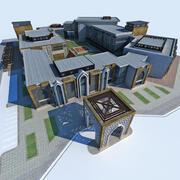 Hub voor moderne Arabische architectuur 3d model