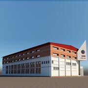 Endüstriyel bina 3d model