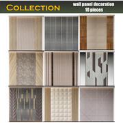 duvar paneli dekorasyonu 10 parça 3d model